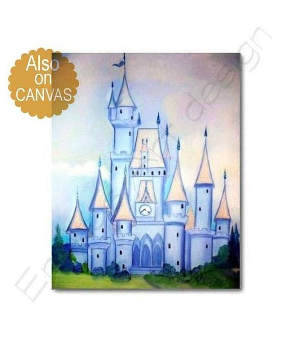 Castle Wall Art Baby Boy Nursery Little Prince Castle Art