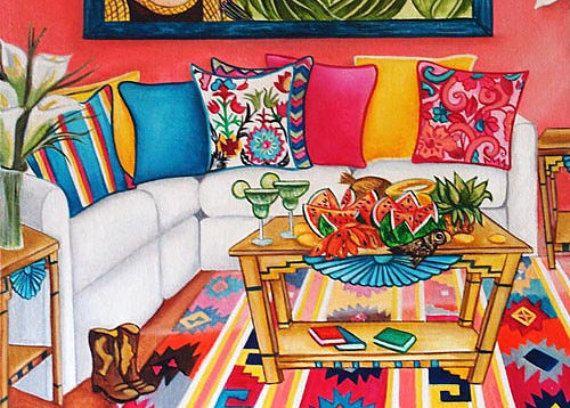 C'est un art de Frida Kahlo Fine sincère impression de ma peinture à l'huile Soleil et la vie - hommage à Frida Kahlo. Art populaire mexicain est étonnante et colorée ce qui est exactement ce qu'il fallait en l'honneur de Frida Kahlo. De ma peinture à l'huile: soleil et la vie - hommage à Frida Kahlo k. Madison Moore Inspiré par: Frida Kahlo Série: Frida pour toujours • Impression d'Art est imprimé sur 13 x 19 poids lourd de haute qualité papier mat Epson • Encres Epson Archival…