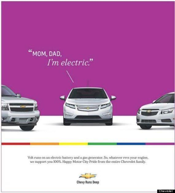 Watt's right with this?: General Motors, Gay Marriage, Cities, Chevrolet, Green Cars, Electric Cars, Dads, Chevy, Gay Pride