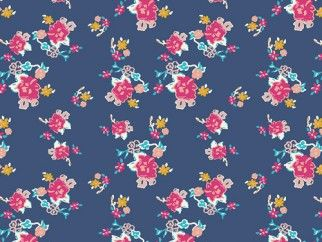 Art Gallery Fabrics Bohemian Charms Abloom Stretch Jersey Knit Dress Fabric | Fabric | Dress Fabrics | Minerva Crafts