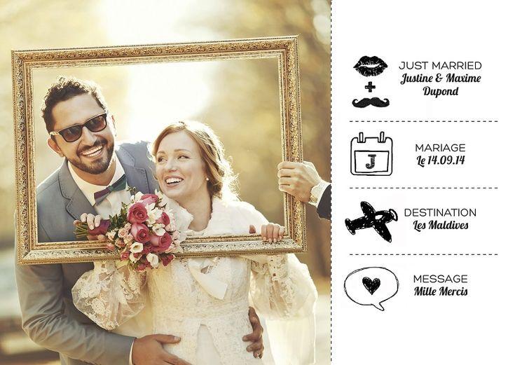 carte de remerciement mariage Archives | Mariage.comMariage.com