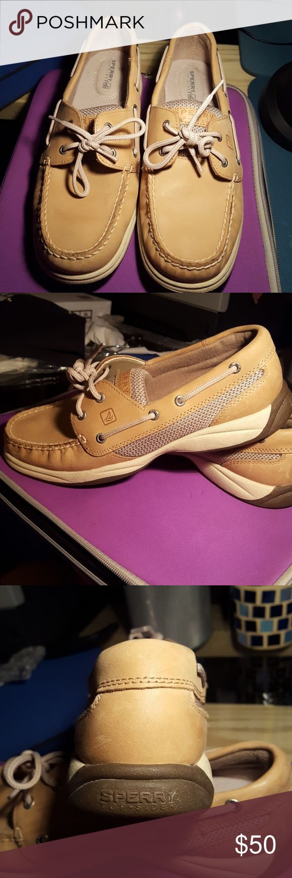 New Sperry Intrepid 2Eye Boat Shoes SALE Leather Sperry Intrepid 2Eye Boat Shoes .  Color is Linen/Oat in New condition. No box. Sperry Top-Sider Shoes