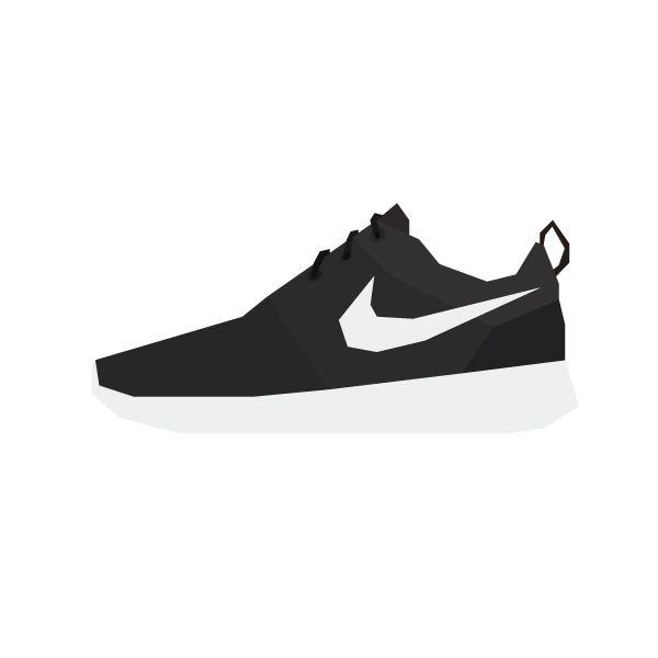 Illustration of the Nike Roshe Run. #sneakers