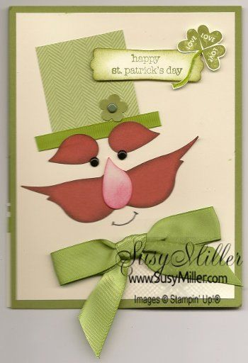 Stampin' Up! Bird Punch St. Patrick's Day by Susy Miller