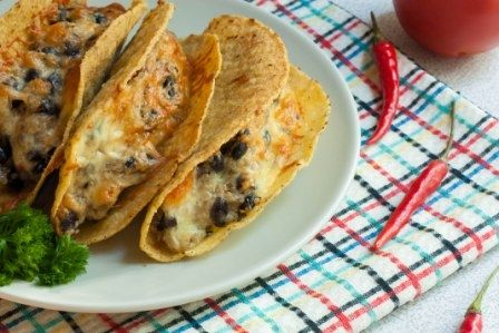 Mexican tacos with healthy legumes and grains #vegelicacy