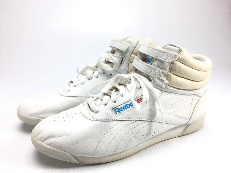 Reebok Freestyle vintage womens size 12 high top shoes RA 704 PAR 2-1619 | eBay