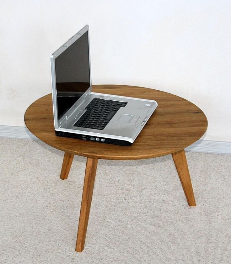 Massivholz Beistelltisch Rund 70cm Wildeiche Gelt Telefontisch Holz Couchtisch In Mbel Wohnen