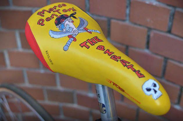 Marco Pantani's Selle Italia saddle of his 1997 Willier