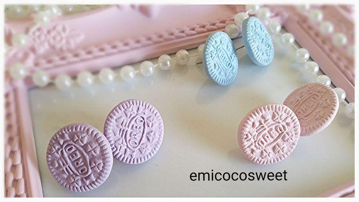 Oreo Earrings,Cookie studs earring,food earrings,Fairy Kei Pastel Goth earrings in Jewellery & Watches, Fashion Jewellery, Earrings   eBay