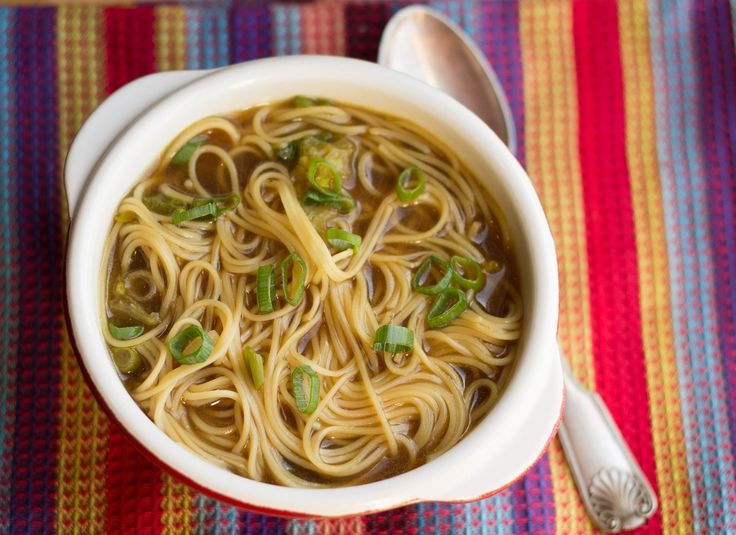 """Quick & Easy Chicken Soup -  Erin's Kitchen says """" I absolutely love Chinese soups.  I have cookbook after cookbook filled with pages of lovely looking Chinese noodle soups that quite often come with complicated directions.  My version is not only quick and easy, but it's delicious too!  If you make this soup, you'll never make the instant kind again!"""""""