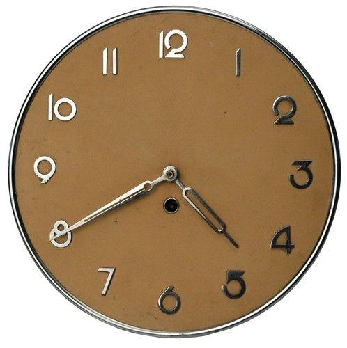 Sleek Art Deco Modernism German Kienzle Wall Clock - $220.
