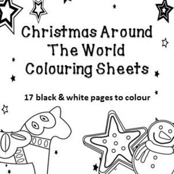 Christmas Around The World Colouring Pages - 17 black & white colouring sheetsNo Prep - print and go. 17 black and white pages with flags and imagery of Christmas around the world.Contains:Australia (Christmas on the beach)Australia (Bush Christmas)England (Writing to Father Christmas)England (Christmas Dinner)Germany (Advent Calendar)Germany(Decorating Gingerbread)Mexico (Piata) Brazil (Midnight Mass)The Netherlands (Cycling in Amsterdam)The Netherlands (Windmill)Sweden (Decorative hors...