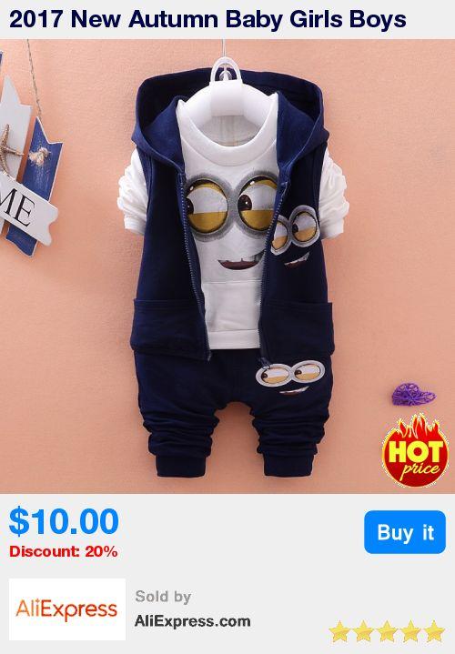 2017 New Autumn Baby Girls Boys Minion Suits Infant/Newborn Clothes Sets Kids Vest+T Shirt+Pants 3 Pcs Sets Children Suits * Pub Date: 10:26 Jul 7 2017