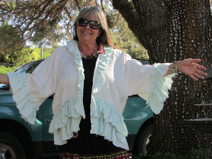 Plus size ruffled top, Magnolia Pearl look, lagenlook, mori girl, victorian look, Prairie look by SimpleTinyTreasures on Etsy