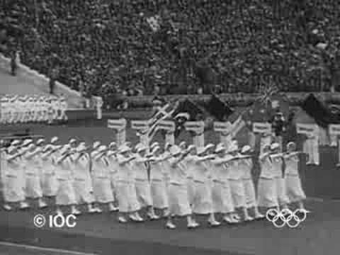 1936 Berlin Olympics Opening Ceremony  http://www.youtube.com/watch?v=GePNydI9gX4=PLB41767F987C06182=2=plpp_video#
