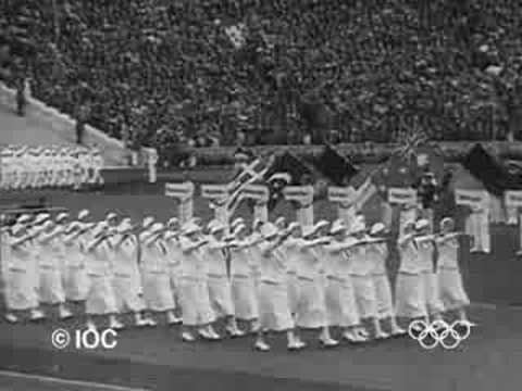 1936 Berlin Olympics Opening Ceremony - YouTube