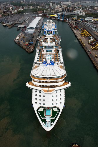 Arrival of our new - ship Royal Princess. Southampton England, June 7th 2013