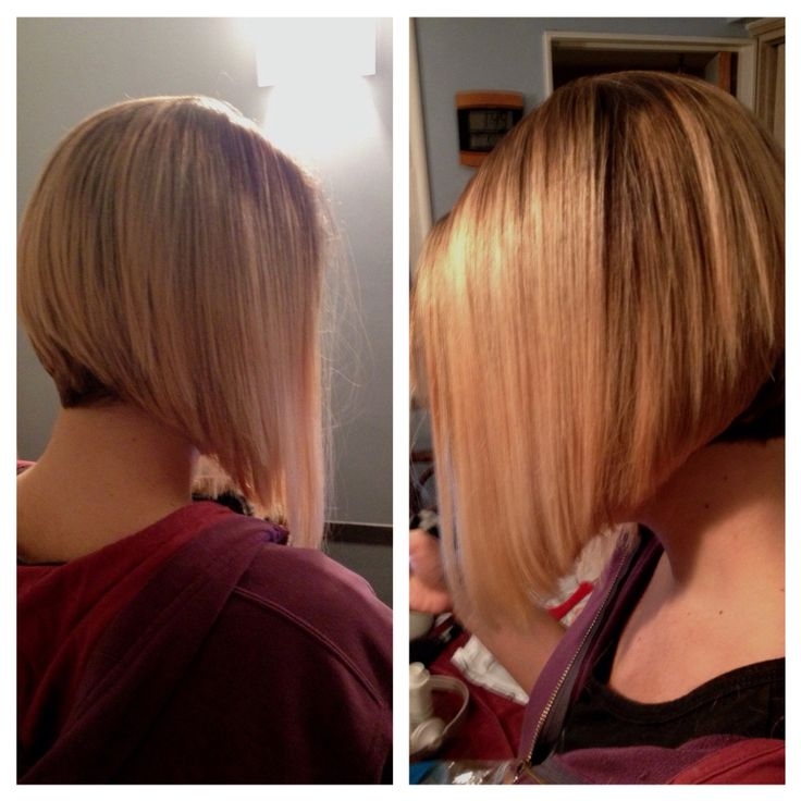 Color BALAYAGE . Bob invertido.