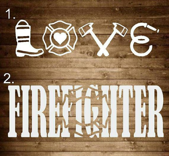 Firefighter decal firefighter firefighter by SapphirePearlDesigns