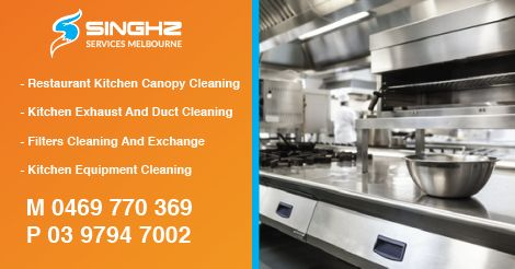 We provide kitchen canopy cleaning, exhaust fan cleaning and deep equipment cleaning services in Melbourne.