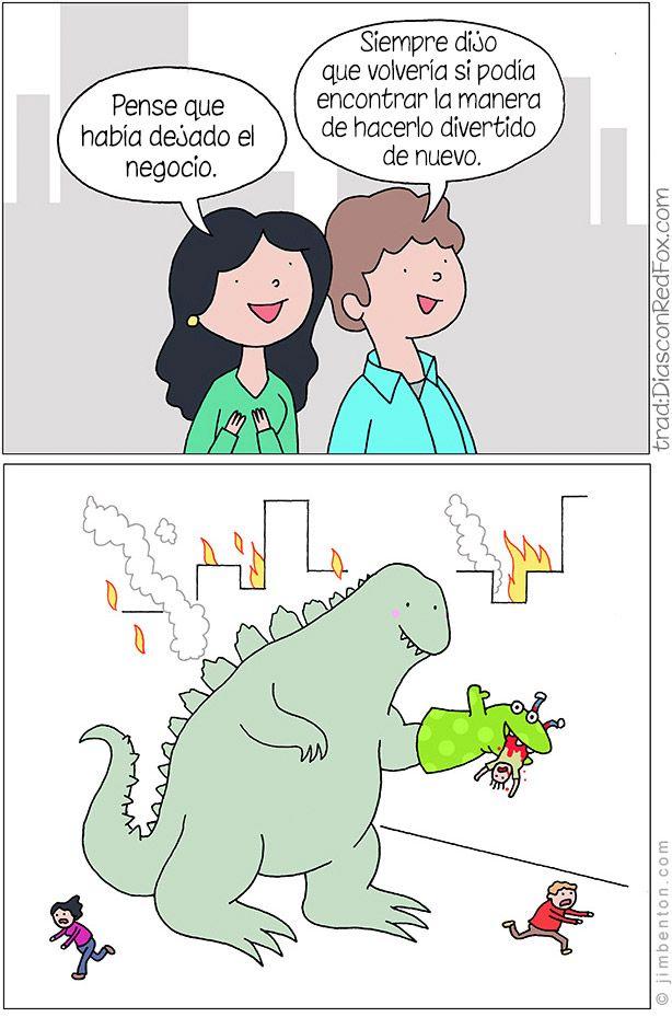 Aterradora imagen de Godzilla