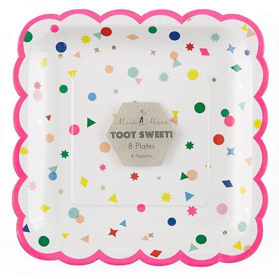 Toot Sweet Charms Large Plates (Set of 8)  | The Land of Nod