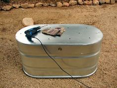 Galvanized Livestock Water Troughs. Compost Bins or Raised Bed Gardens. Arizona Raised Bed Vegetable Gardens For The Arizona Desert Environment. Pictures, Photos, Images, Descriptions,  Information, & Reviews.