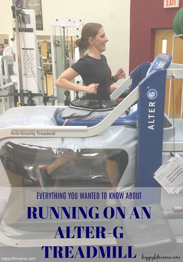 Everything you wanted to know about running on an Alter-G Treadmill while recovering from an injury. happyfitmama.com