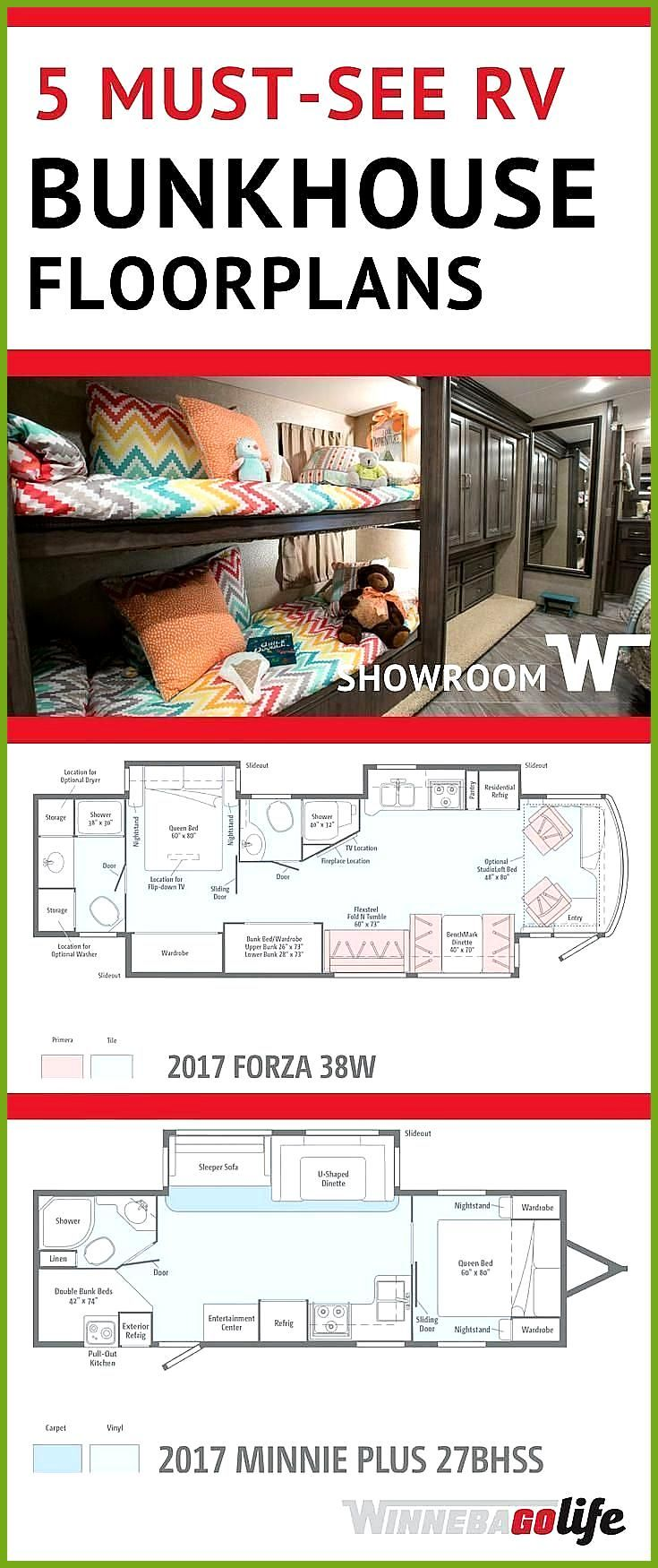 5 Must See Rv Bunkhouse Floorplans 5 Must See Rv Bunkhouse Floorplans Are You Thinking About Embracing Th Travel Trailer Floor Plans Bunk House Rv Floor Plans