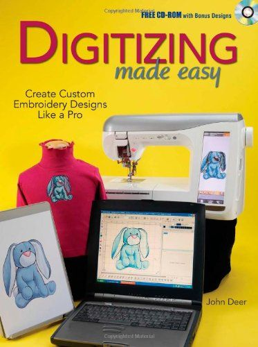 "Digitizing Made Easy Create Custom Embroidery Designs Like a Pro  ""Digitizing Made Easy"" is for every embroidery machine user and commercial machine embroiderer looking to better understand and utilize digitizing software. The author's time-tested method, demonstrated in 250 step-by-step color photos will help you to better identify the tools of modern digitizing, and the best processes with which to use them.   With chapters covering artwork, auto-digitizing, stitch types, mapping a.."
