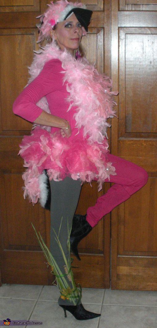 Pink Flamingo Lawn Ornament - Halloween Costume Contest via @Merry Falk Works