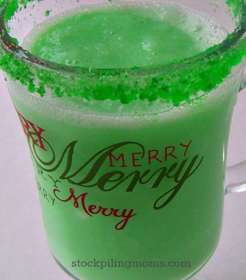 Grinch Punch is such a great idea for Children's Christmas parties or when watching How the Grinch Stole Christmas.