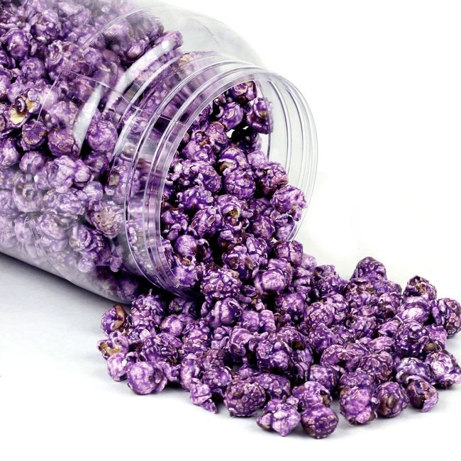 Purple Candy Coated Popcorn Grape flavored...not sure if I want green or purple!!