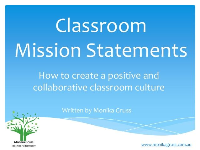HOW to develop a mission statement, and more..