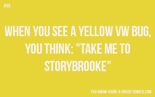 """You know you´re a Oncer when you see a yellow bug and think take me to storybrooke."""