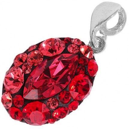 Pandant cu cristale rosii http://www.bijuteriifrumoase.ro/cumpara/pandantiv-chaton-oval-14-gl-3143