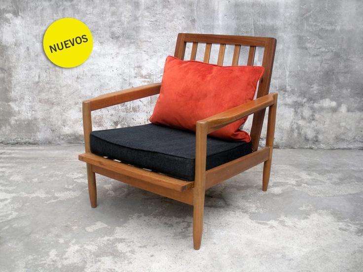 Sillones escandinavos macizos en Peteribí  #escandinavo #danish #armchair #furniture