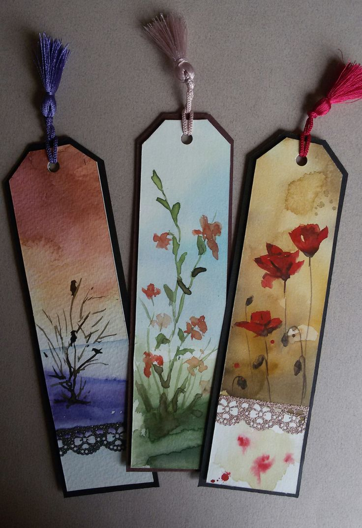 #bookmarks #watercolor #handmade #bookmarks #original https://www.zet.com/urun/suluboya-kitap-ayraci-k-0007-0008-0009-304908