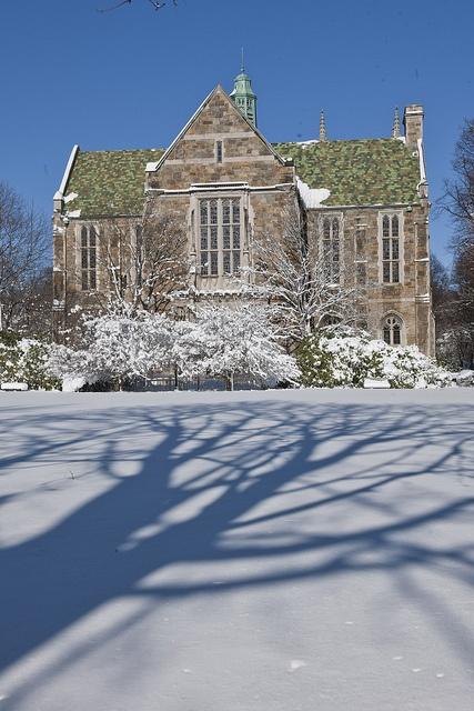 A snowy winter at Boston College
