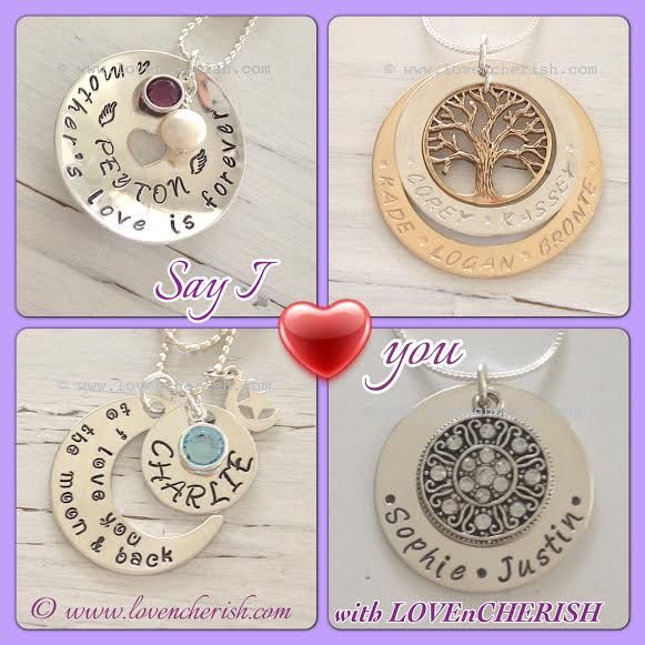 Hand stamped jewellery, hand stamped jewelry, personalised jewellery by www.lovencherish.com
