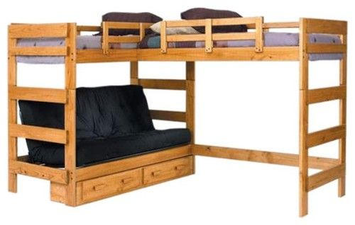double loft beds-- wonder if we could make plans for this for the boys room