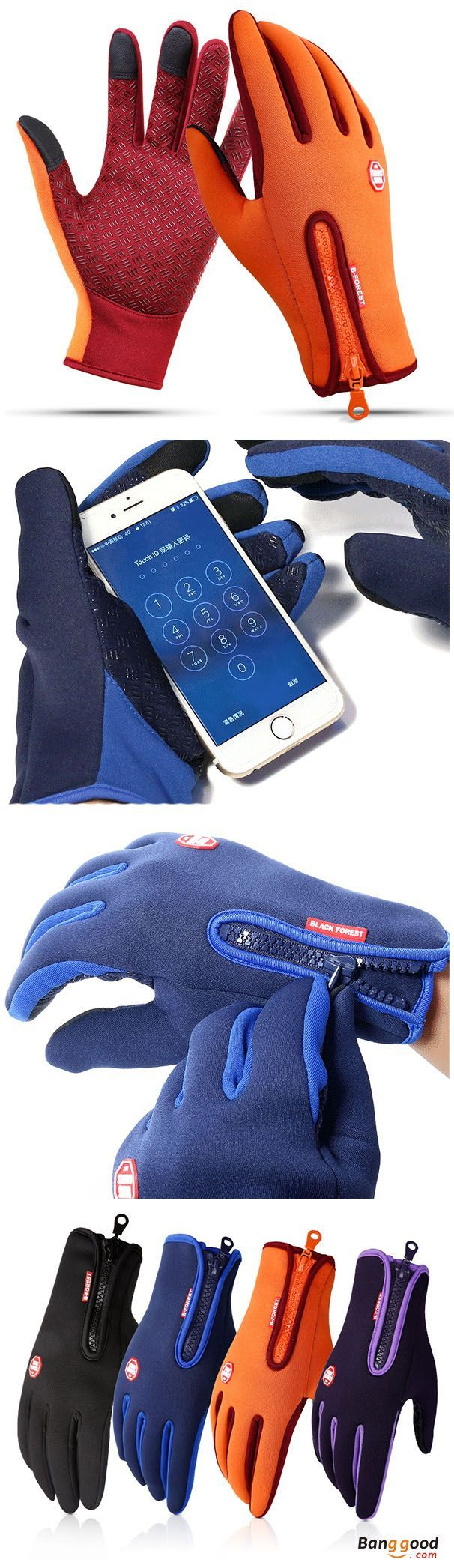 Mens Unisex Warm Touch Screen Fleece Gloves No-Slip Cycling Outdoor Windproof Ski Gloves. Windstopper, waterproof, Touch Screen, Slip the zipper, Anti-slip. Apply to Skiing, Outdoor Sports, Riding etc. 6 colors to match your style. Have a look!