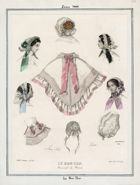 Le Bon Ton, June 1858. LAPL Visual Collections.  Civil War Era Fashion Plate
