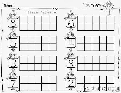182 best Teaching - FALL images on Pinterest Preschool, Autumn - ten frame template