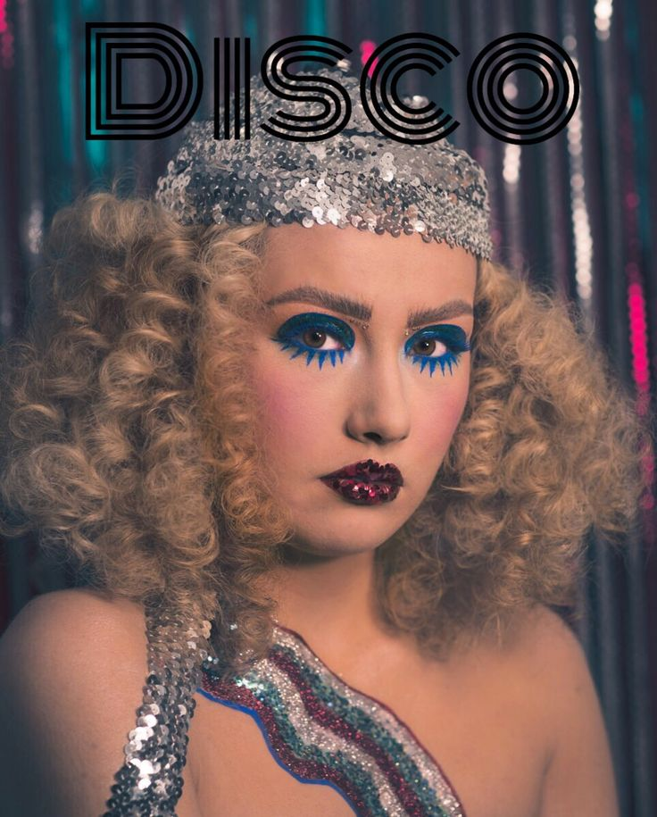 Disco glam makeup 70s makeup Afro hair 70s hair biba fever disco makeup twiggy m…