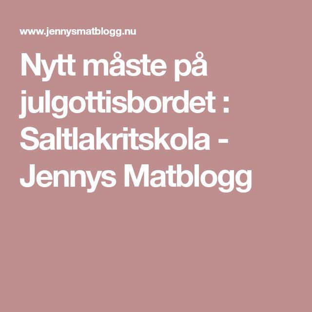 Nytt måste på julgottisbordet : Saltlakritskola - Jennys Matblogg
