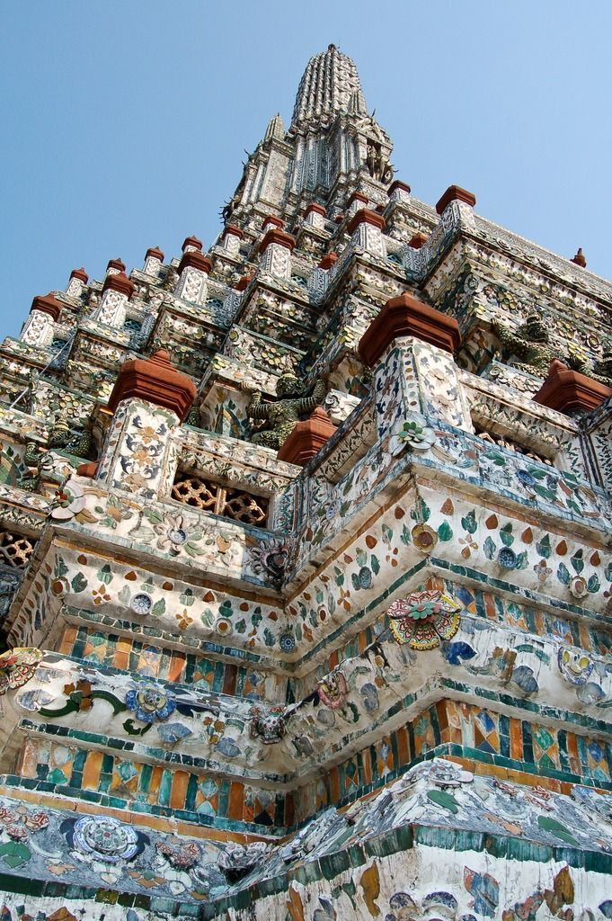 Wat Arun . Thailand - Explore the World with Travel Nerd Nici, one Country at a Time. http://TravelNerdNici.com