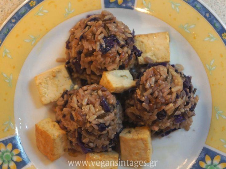 !Βίγκαν Συνταγές!: Άγριο ρύζι με μωβ λάχανο και τζίντζερ