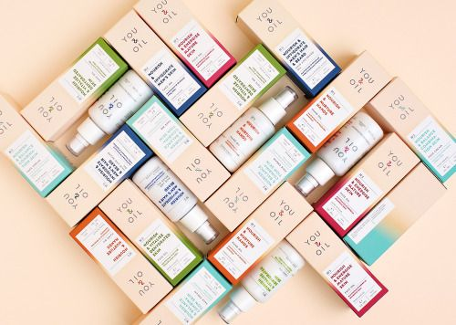 You & Oil  New brand logo and packaging design for a line of natural cosmetics.  Use color coding effectively, strengthen natural and professional image of the product.  DESIGN SOLUTIONS:  PRODUCT DIFFERENTIATION. All products divided into 5 colored...