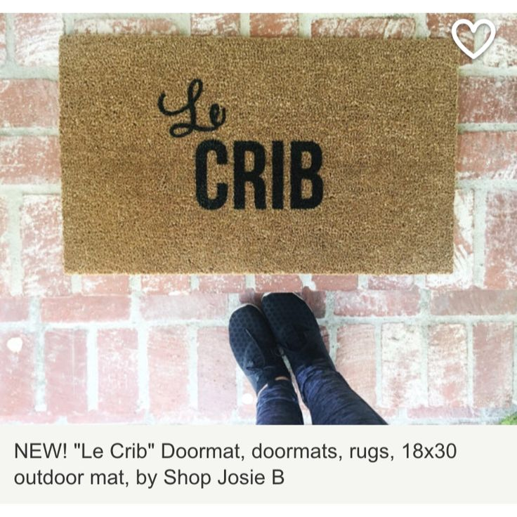 Josie B doormats .. Cute!